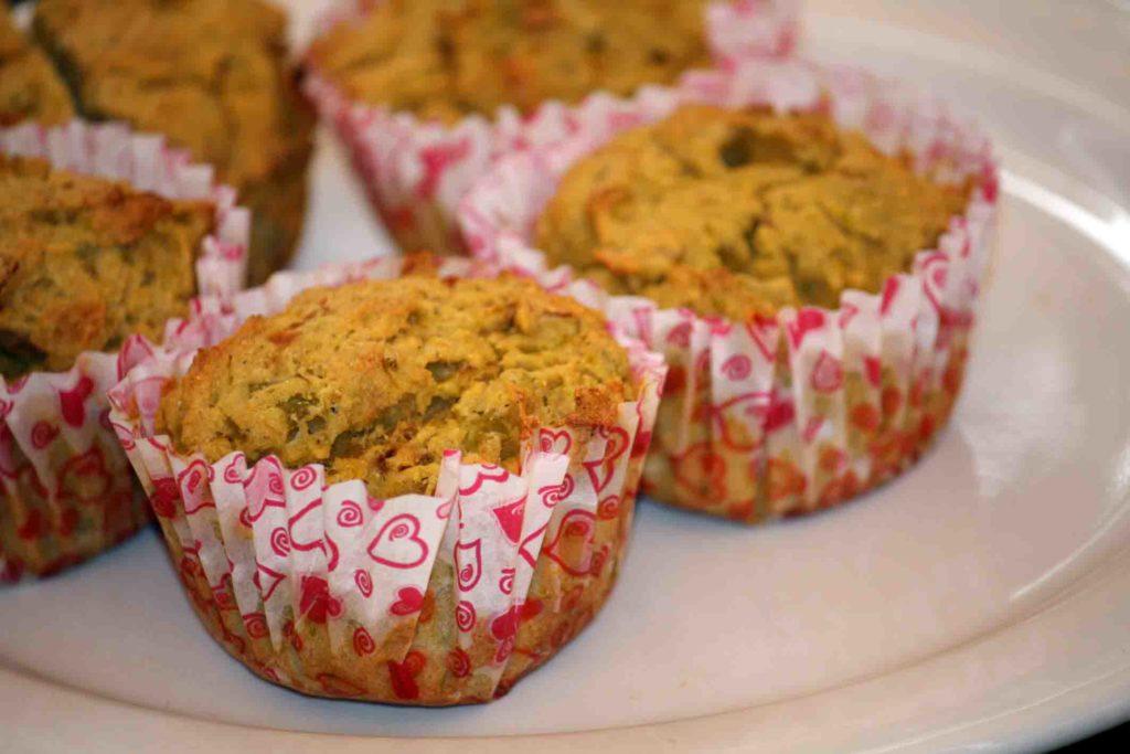 Receta de muffins de brócoli cocido