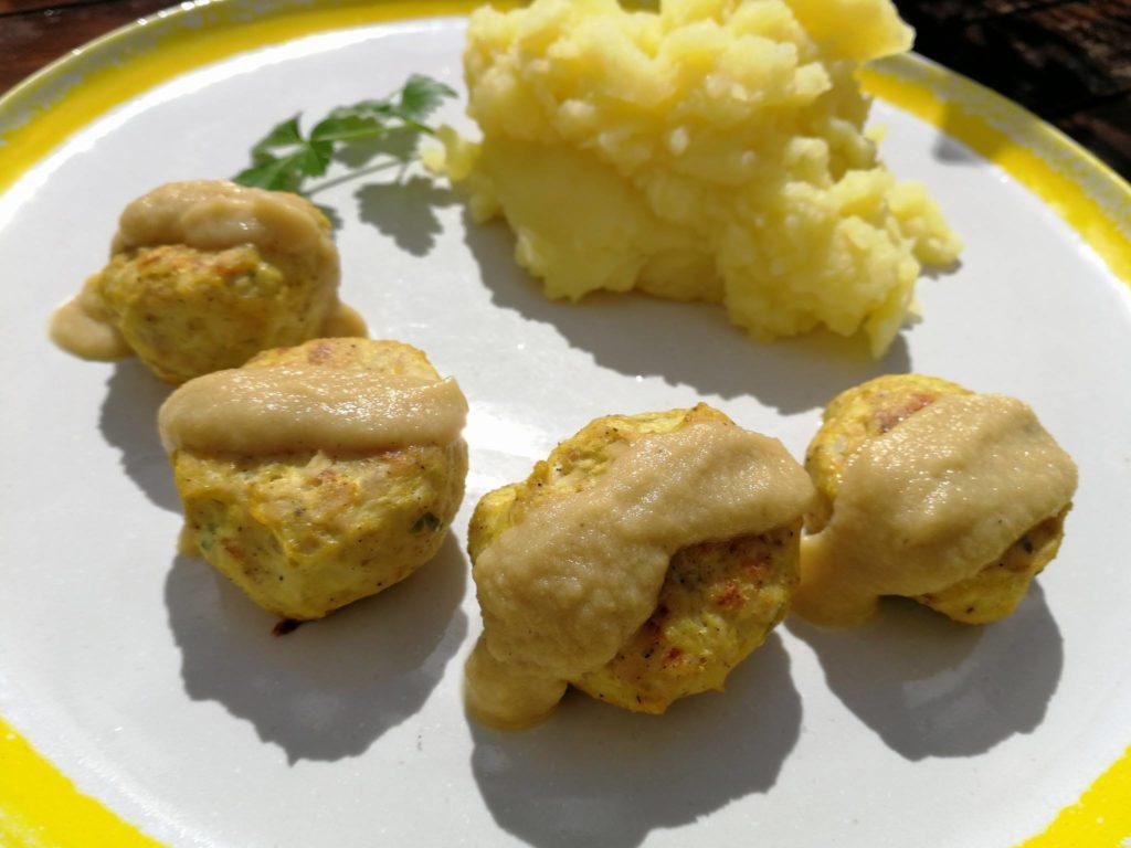Albóndigas de coliflor y pollo