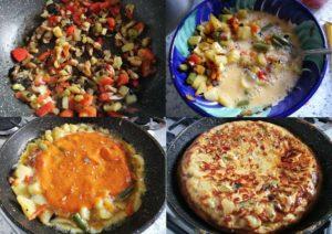 tortilla de verduras paso a paso
