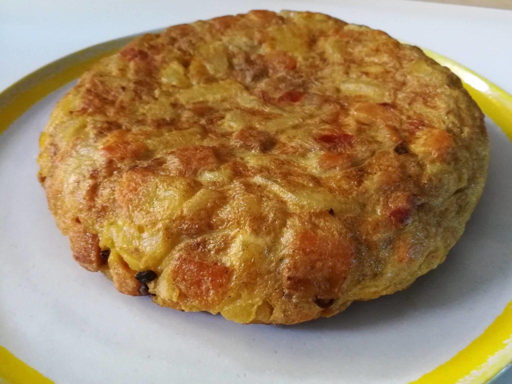 Tortilla de patata y boniato