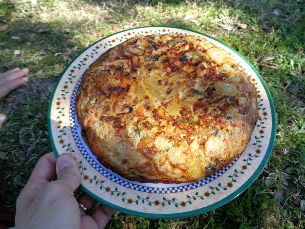 Tortilla campera o tortilla de verduras
