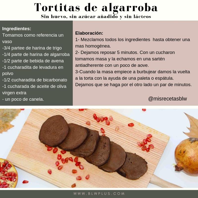 Tortitas de algarroba