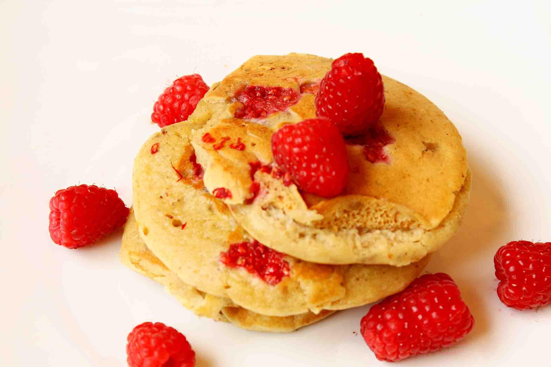 Tortitas de frambuesas sin azúcar