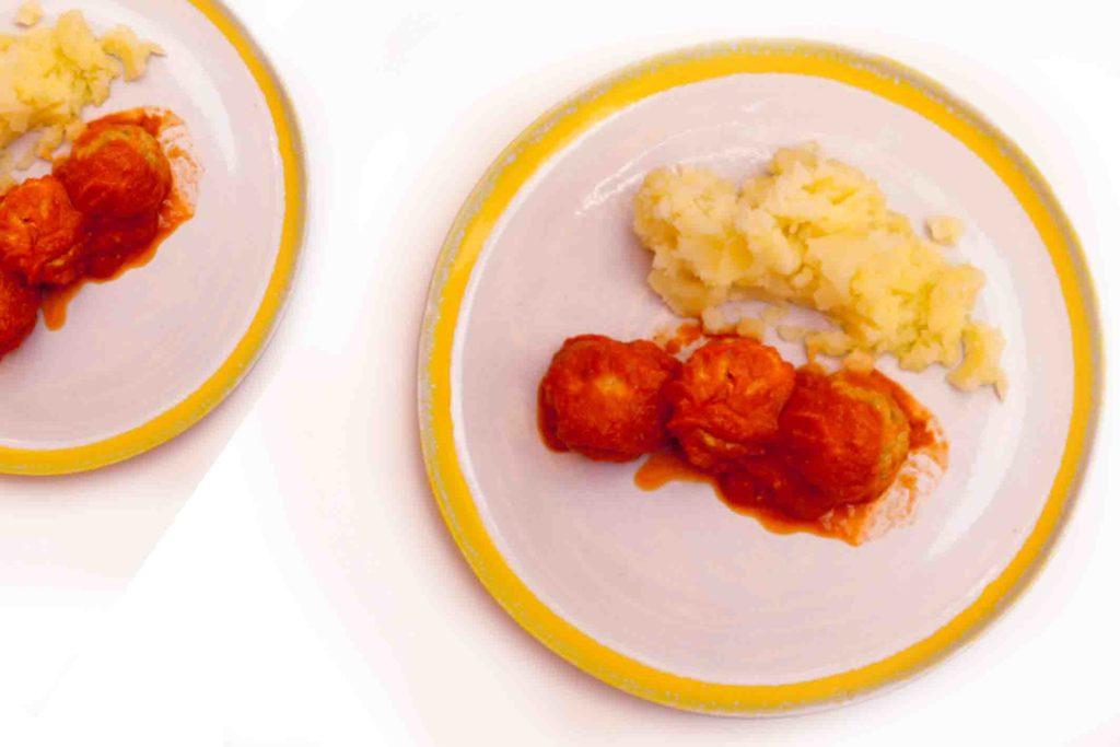 Albóndigas de pollo al vapor, receta fácil y sabrosa blw