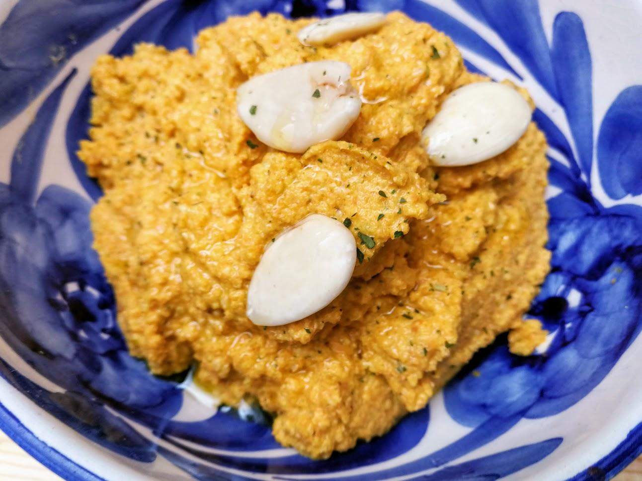 Hummus de zanahorias y almendras